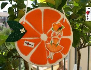 Orangentasche aus Filz
